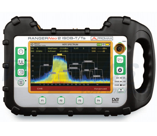 Promax RANGERNeo 2  ISDB-T : Professional TV & Satellite Analyser