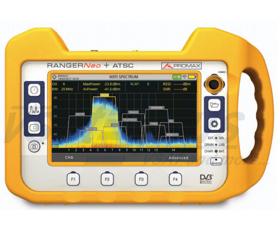 Promax RANGERNeo + ATSC: Advanced Multifunction TV & Satellite Analyser