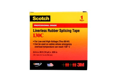 3M™ Linerless Electrical Rubber Splicing Tape 3/4 in x 30ft (19.1mm x 9.1m x 0.762mm)