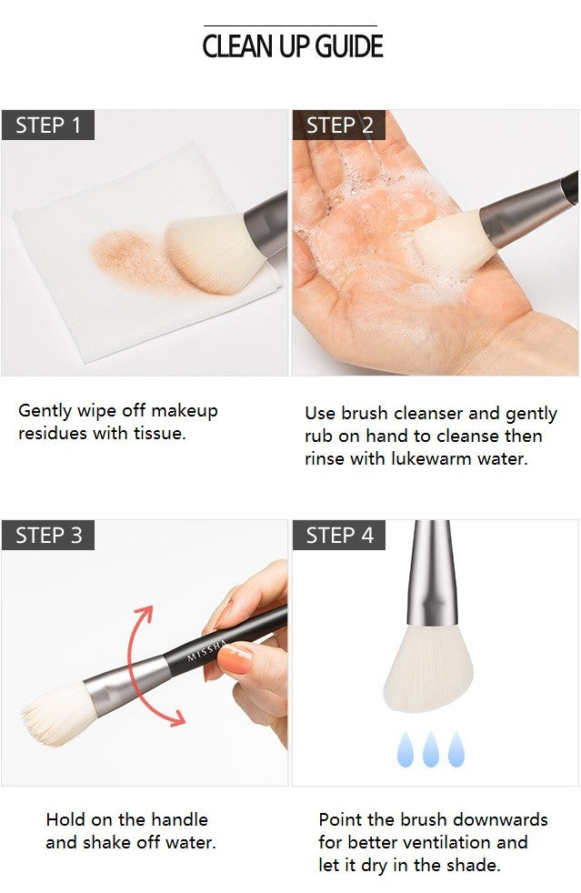 MISSHA Artistool Cheek & Highlighter Brush #206 cleansing guide