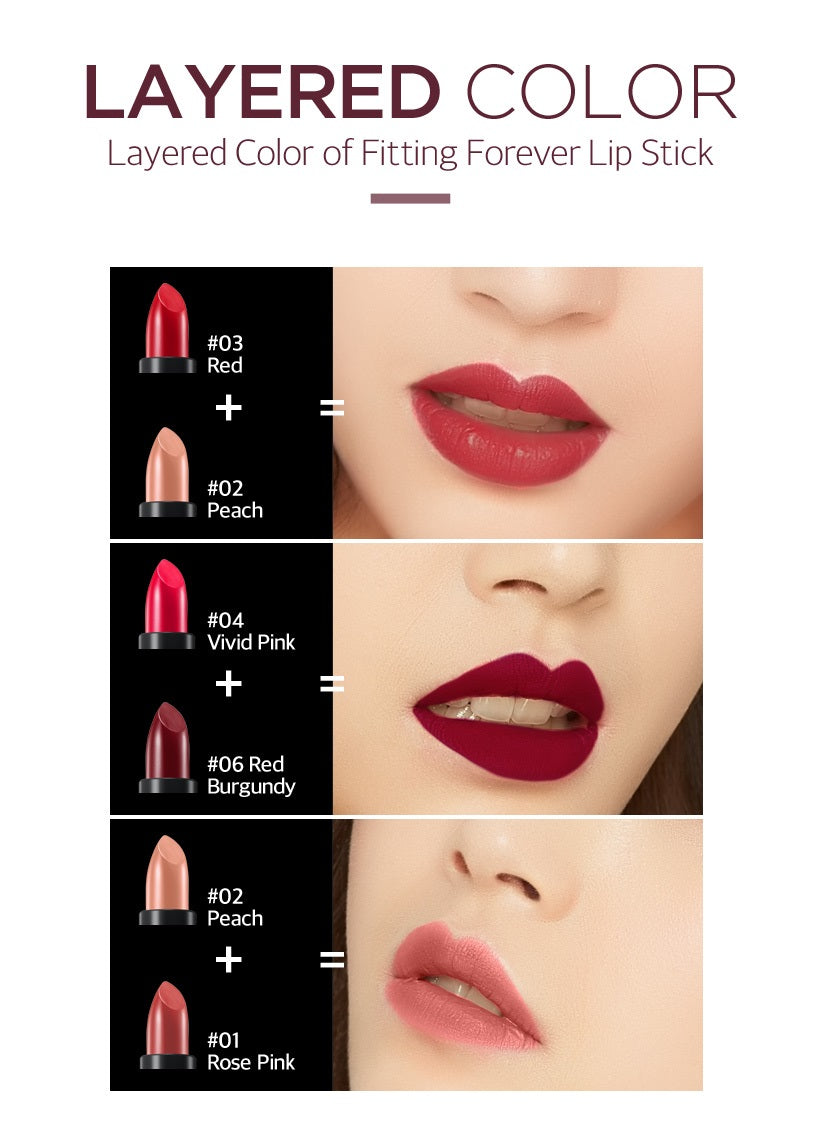 SECRET KEY Fitting Forever Lipstick color options
