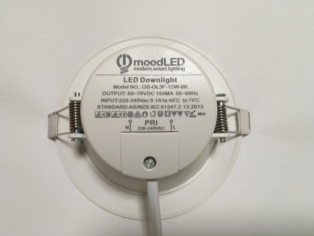 Downlight - Dimmable 12W LED Downlight MS-GS-DL3F-12W Geshide - moodLED
