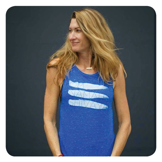 TILAKA ONS Muscle Tank in Blue Marble