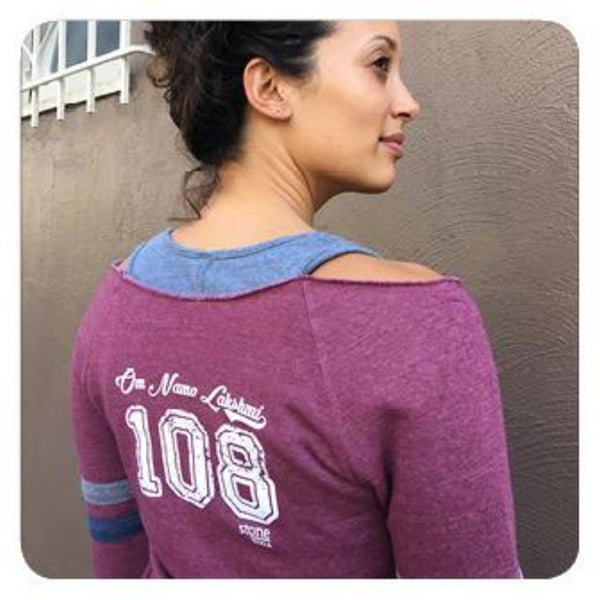 Om Namo Lakshmi Cranberry Long Sleeve
