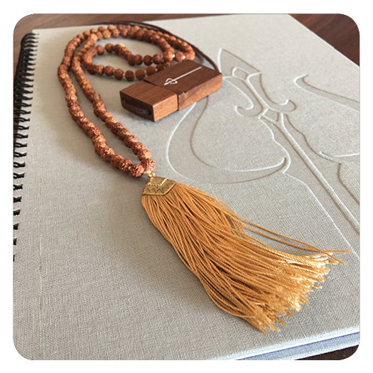 Bhakti Bundle: Notebook, Mala, USB
