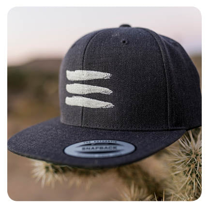 Classic Snapback Hat with Shiva Marks