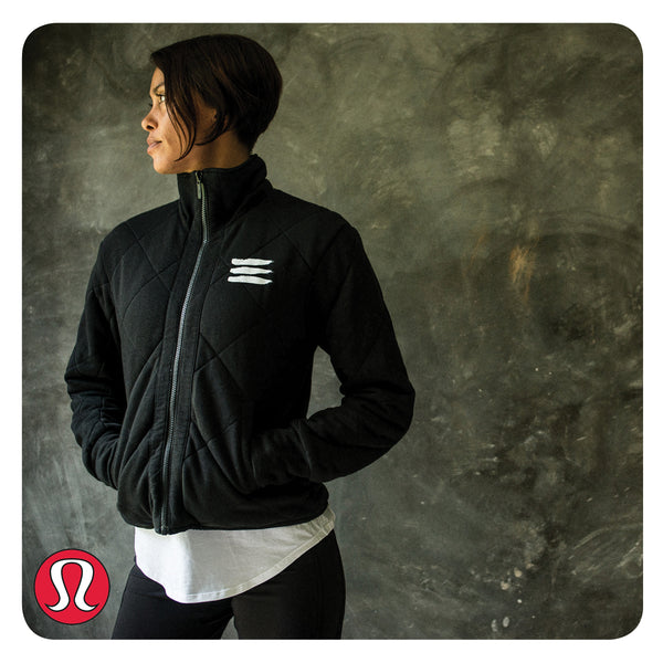 Lululemon Forever Warm Jacket, imprinted with Shiva Marks