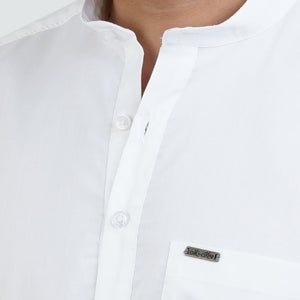WHITE SOLID KURTA SHIRT