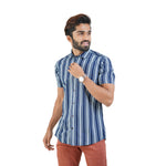 Load image into Gallery viewer, Blue White Stripe Shirt
