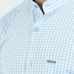 Load image into Gallery viewer, BLUE & WHITE SMALL CHECKS SHIRT