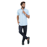 Load image into Gallery viewer, BLUE WHITE MINI CHECK SHIRT