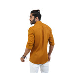 Load image into Gallery viewer, MUSTARD SELF DESIGN CASUAL SHIRT