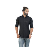 Load image into Gallery viewer, BLACK SELF DESIGN SHIRT