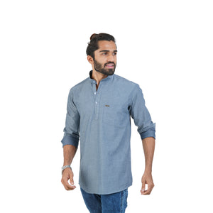 SELF DESIGN KURTA SHIRT