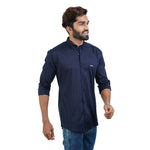 Load image into Gallery viewer, BLUE SOLID DESIGN CASUAL SHIRT