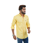 Load image into Gallery viewer, YELLOW SOLID DESIGN CASUAL SHIRT