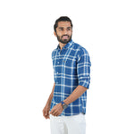 Load image into Gallery viewer, BLUE MULTI CHECKS TWILL SHIRT