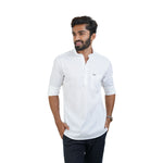 Load image into Gallery viewer, WHITE SOLID KURTA SHIRT