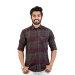 Load image into Gallery viewer, Soft Brushed Twill Checked Regular Fit Casual Shirt