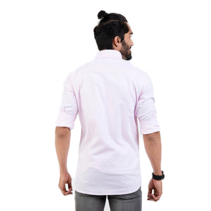 Men Pink Slim Fit Solid Casual Shirt - Mr king