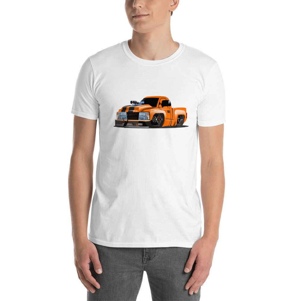 "Orange ""Tooned' Truck Short-Sleeve Unisex T-Shirt"