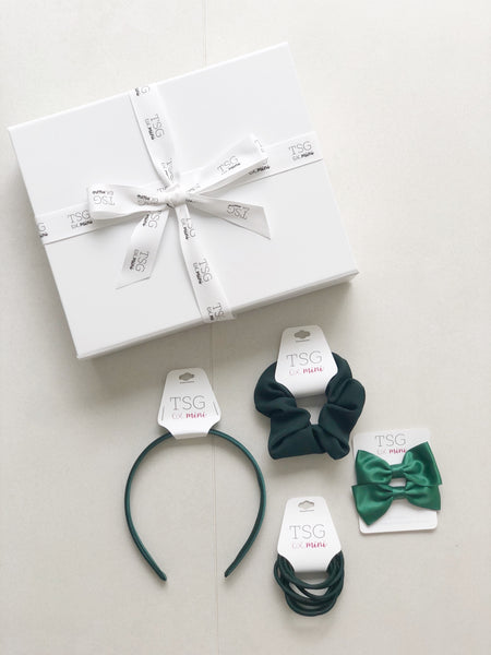HAIR ACCESSORIES BOX | FOREST GREEN
