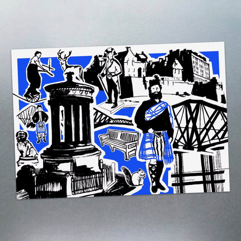 Features of Edinburgh Postcard - Blue Phoenix City Products Uk