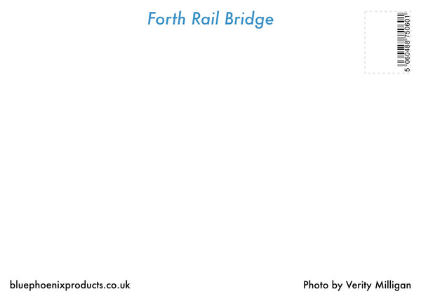 Forth Rail Bridge Postcard - Blue Phoenix City Products Uk