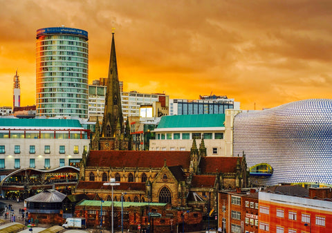Bullring Skyline Postcard - Blue Phoenix City Products Uk