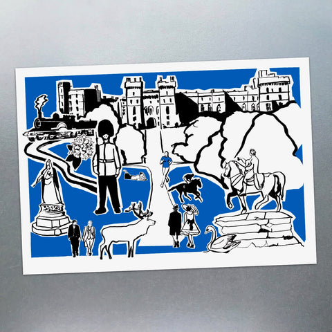 Features of Windsor Postcard - Blue Phoenix City Products Uk