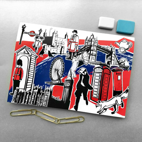 A5 Features of London Notebooks - Blue Phoenix City Products Uk