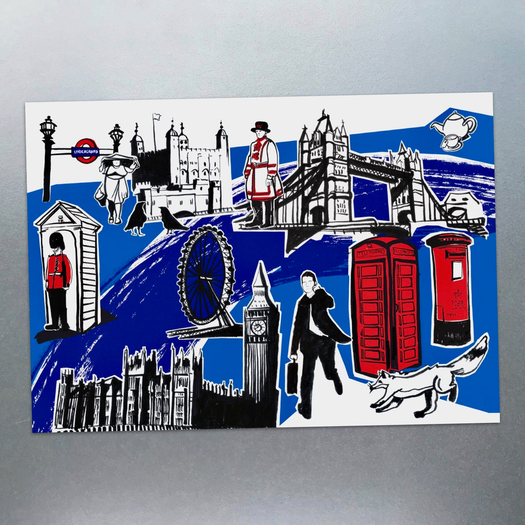 Features of London Postcard - Blue Phoenix City Products Uk
