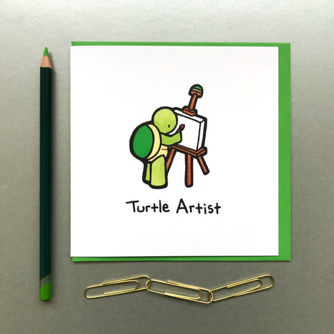 Turtle Artist Card - Blue Phoenix City Products Uk