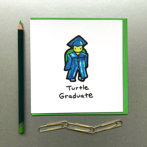Turtle Graduate Card - Blue Phoenix City Products Uk