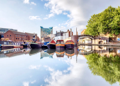 Canals of Birmingham Postcard - Blue Phoenix City Products Uk