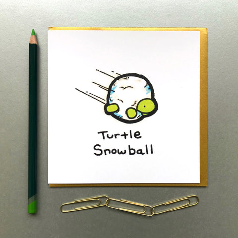 Turtle Snowball Card