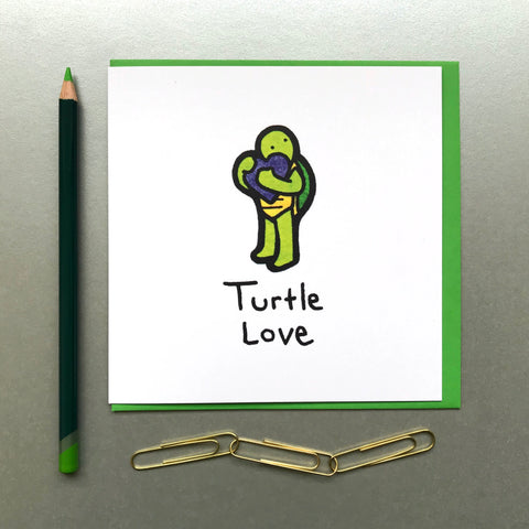 Turtle Love Card - Blue Phoenix City Products Uk