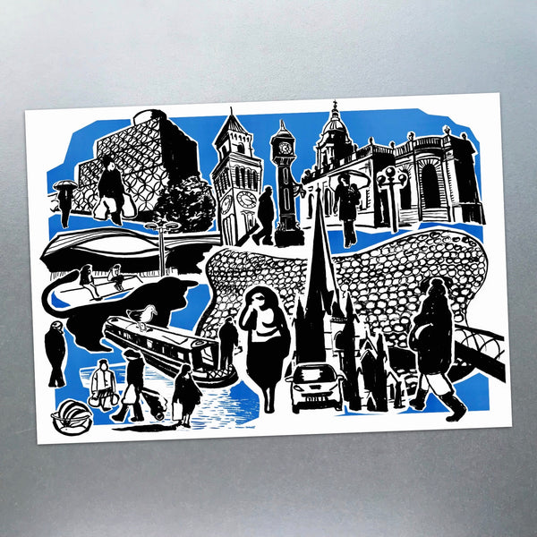 Features of Birmingham Postcard - Blue Phoenix City Products Uk