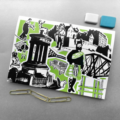 A5 Features of Edinburgh Notebooks - Blue Phoenix City Products Uk