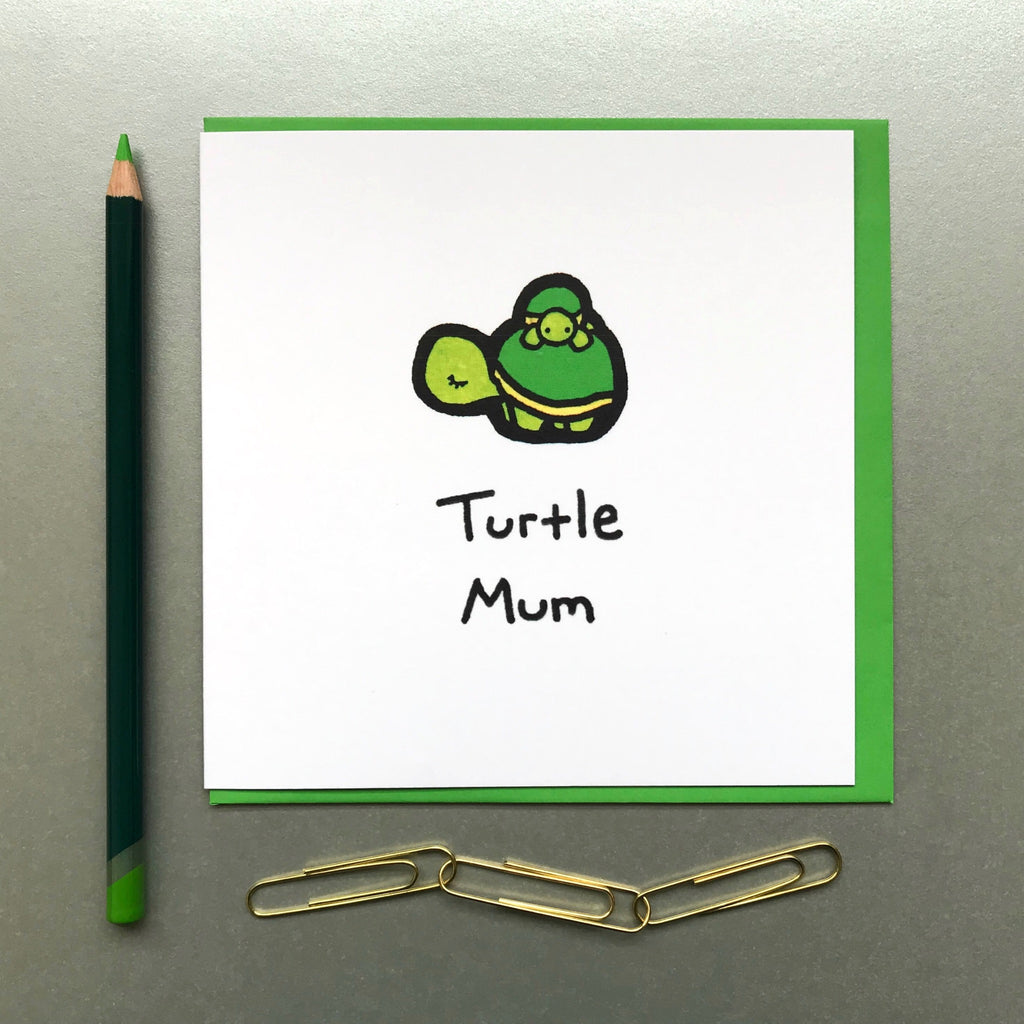 Turtle Mum Card - Blue Phoenix City Products Uk