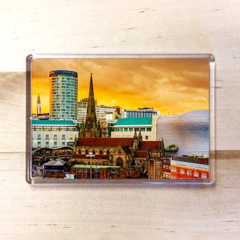 Bullring Skyline Magnet - Blue Phoenix Gifts Uk