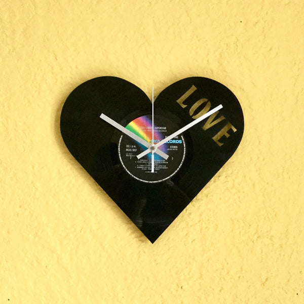 Love Vinyl Clock - Blue Phoenix City Products Uk