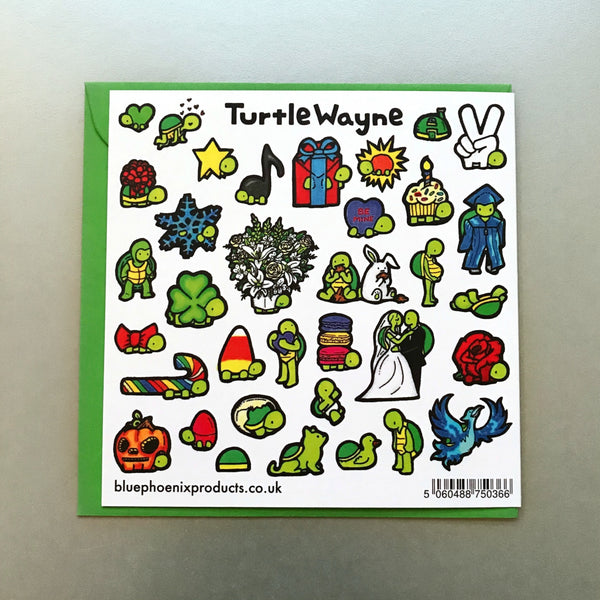 Turtle Bae Card - Blue Phoenix City Products Uk