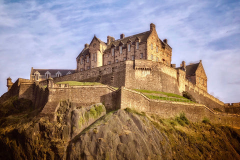 Edinburgh Castle Postcard - Blue Phoenix City Products Uk
