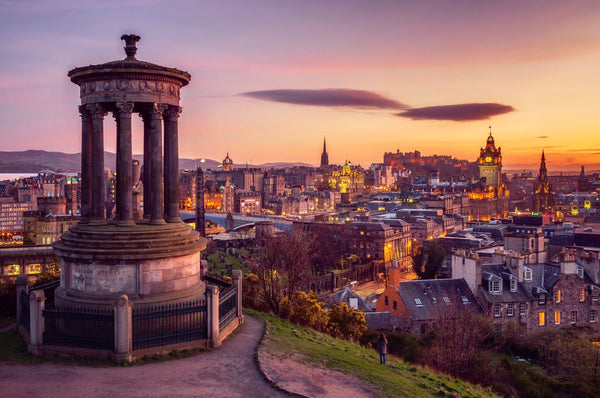 Calton Hill Postcard - Blue Phoenix City Products Uk