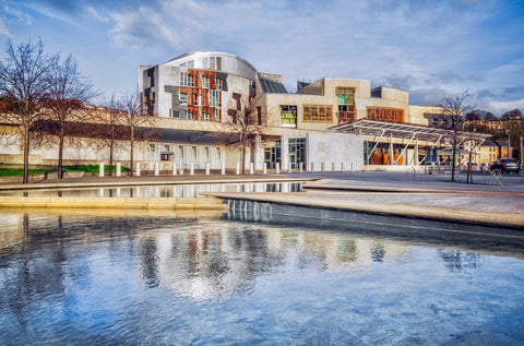 Scottish Parliament Postcard - Blue Phoenix City Products Uk