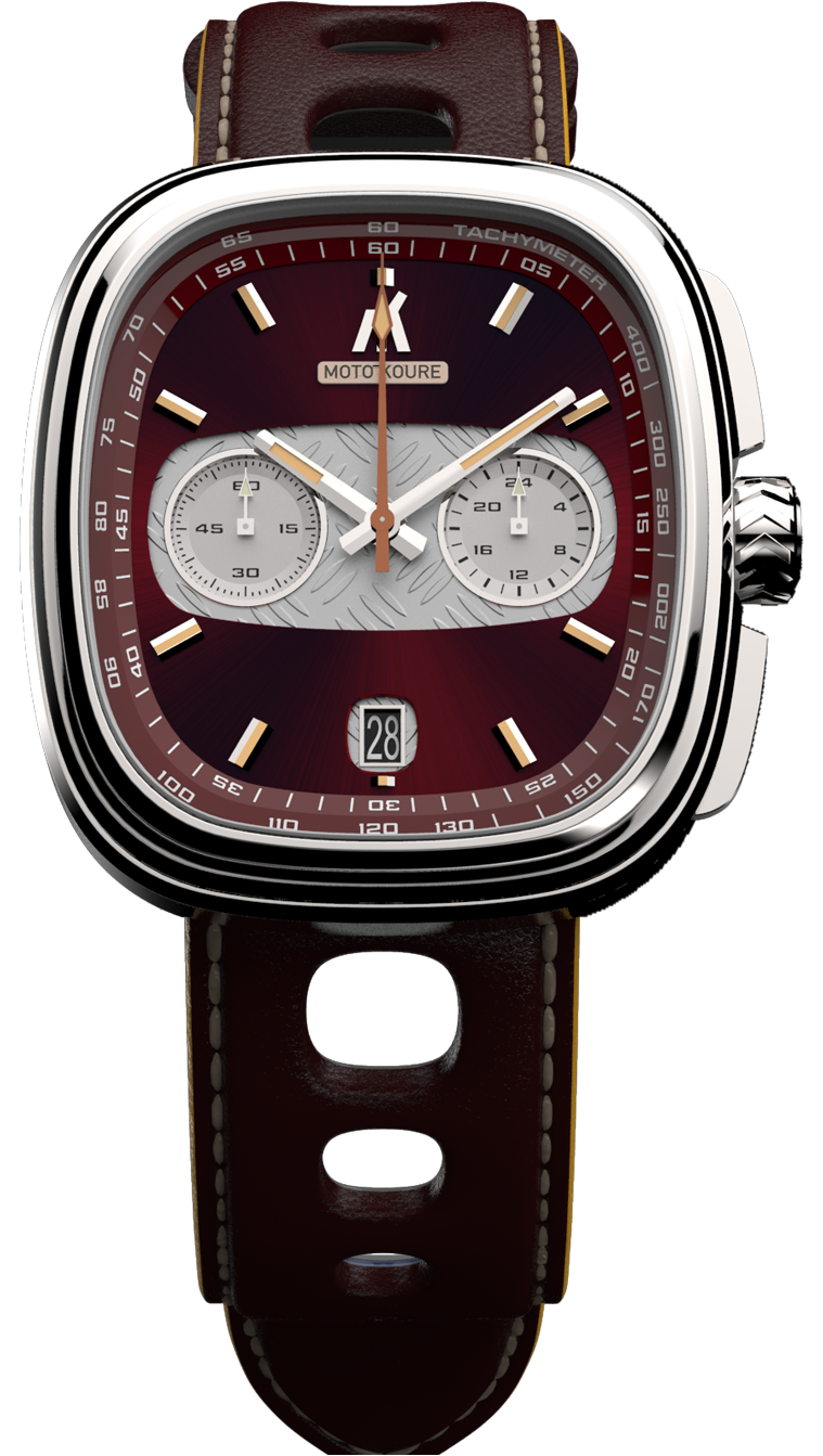 MK I Mecha-Quartz - Diamond Plated - Burgundy