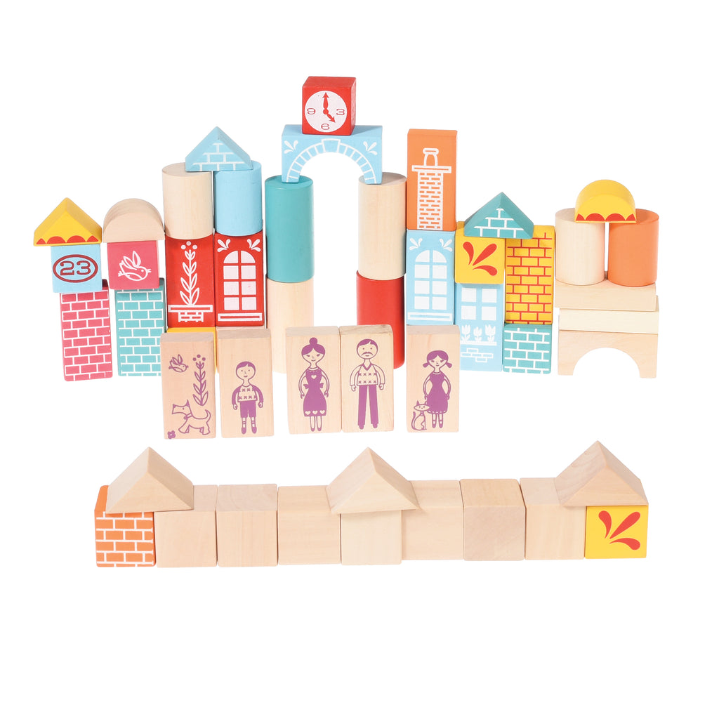 Set Of 50 Wooden Building Blocks