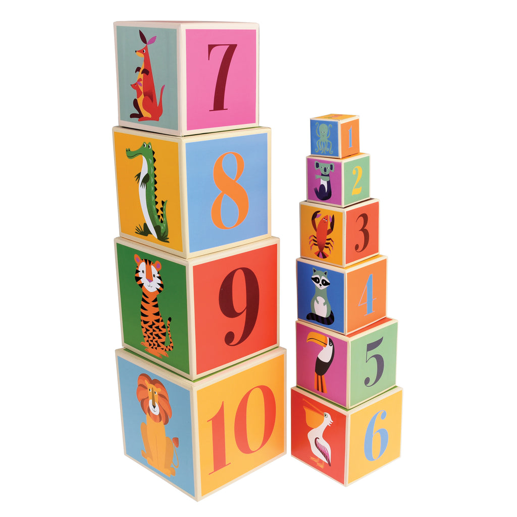 Colourful Creatures Stacking Blocks