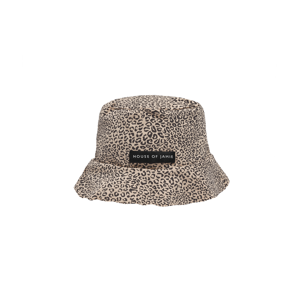Summer Hat Charcoal Little Leopard